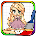 Doll Princesses Coloring Book icon