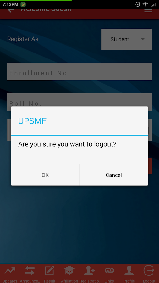 UPSMF- screenshot
