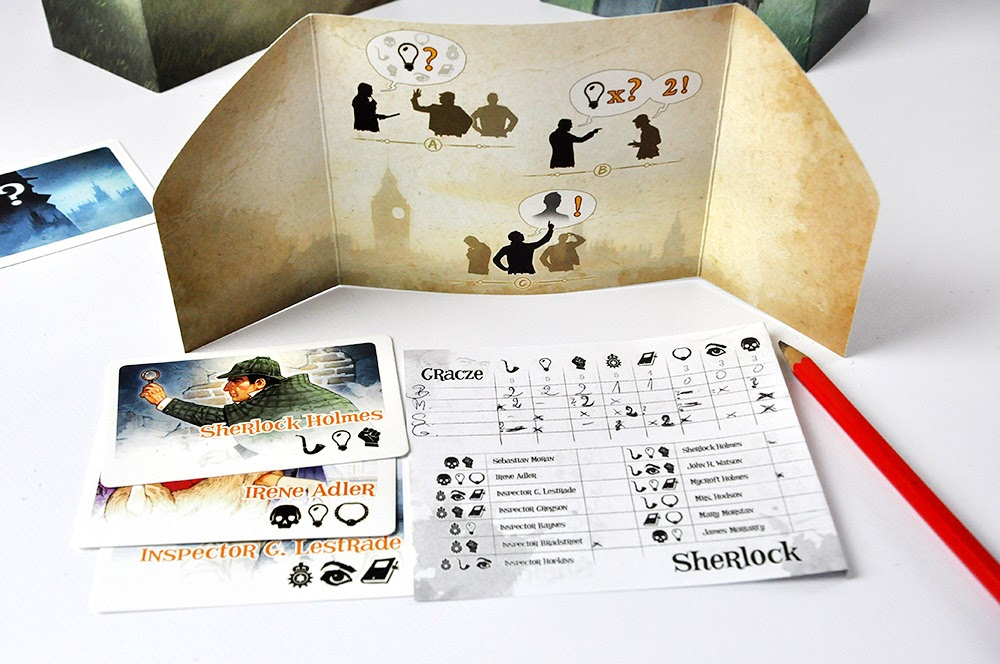 Sherlock Wydawnictwo Granna - arkusz dochodzenia