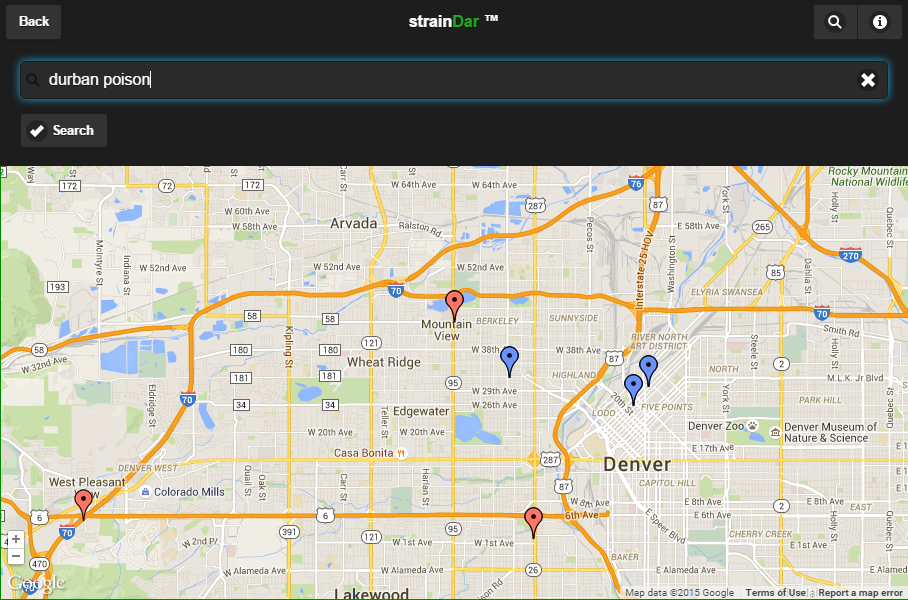 strainDar - Cannabis Locator- screenshot