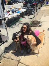 Photo: this was dog love at my one and only yard sale.  Not sure I would do that again.