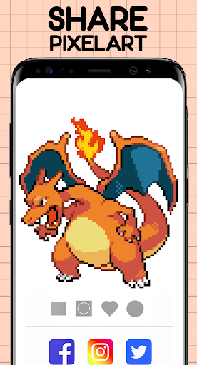 Color by Number - Pokemon Pixel Art Free