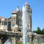Casa Loma's beautiful fountains in Toronto, Ontario, Canada