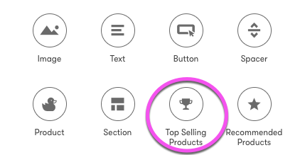 Add Your Store's Top Selling Product to Emails