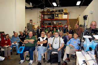 Photo: The podium view of an attentive MCW crowd ready for a pair of demonstrations of jewelry making -- pendants and bangles.