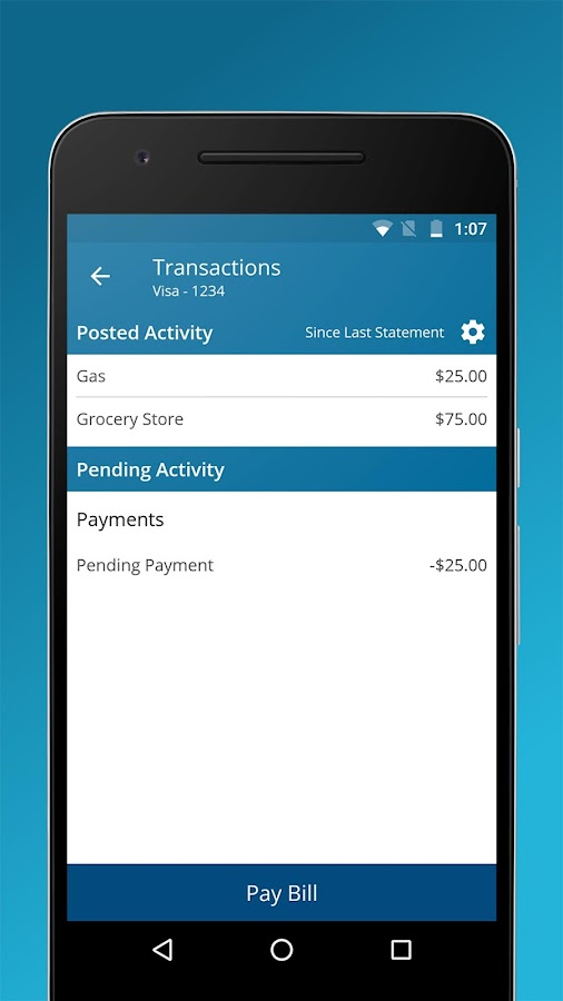 Credit One Bank Mobile- screenshot