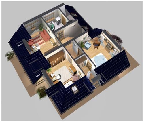 APS 127 - Rzut piętra 3D