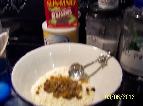 Stir in the raisins or currants together .with the milk..keep the liquid to a...