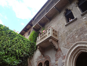 """Photo: """"Juliet's balcony"""" - umm...they do know it was fiction, right?"""