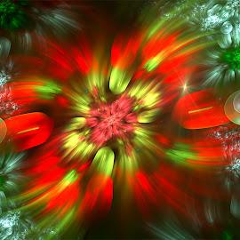 Flower by Cassy 67 - Illustration Abstract & Patterns ( bubble, fractal art, digital art, bubbles, fractal, digital, fractals, flower )