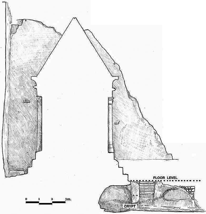 Схема сечения гробницы Захарии в Иерусалиме. Выполнена Стасом Старком.