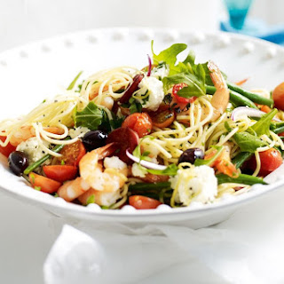 Summer Spaghetti With Prawns