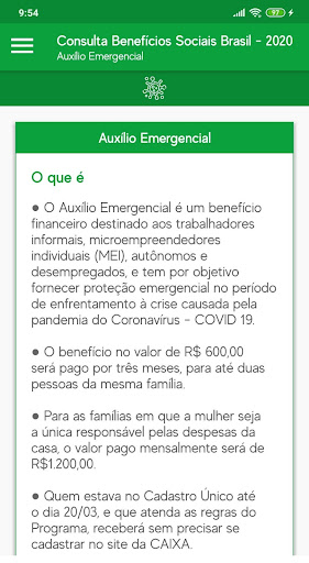 Consulta Benefícios Sociais Brasil - 2020 screenshot 4