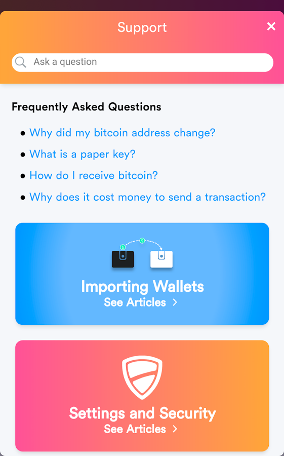Bread - bitcoin wallet- screenshot