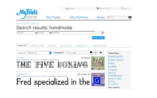 MyFonts Search