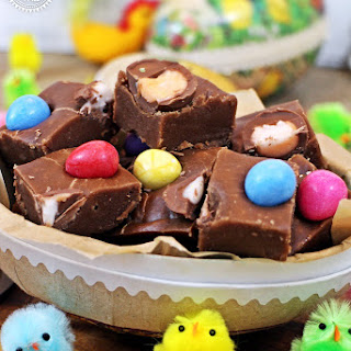 Creme Egg Chocolate Fudge
