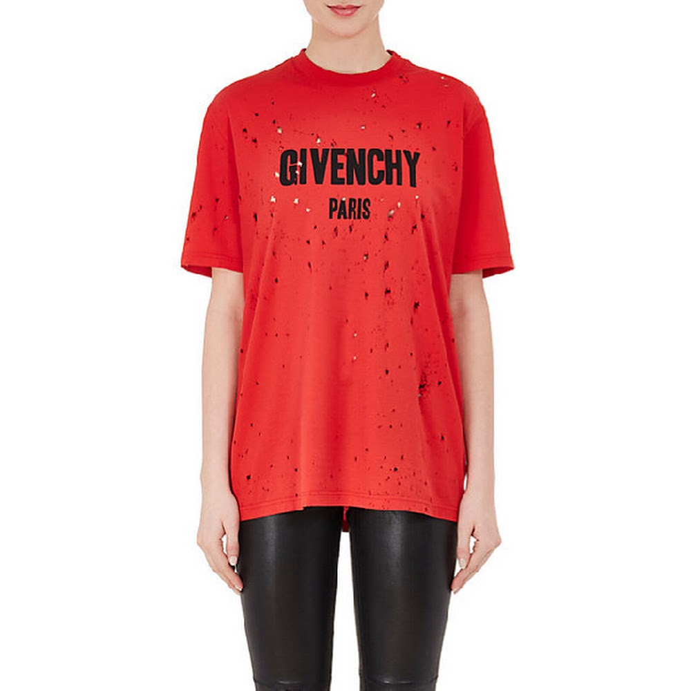 RED GY DISTRESS TEE