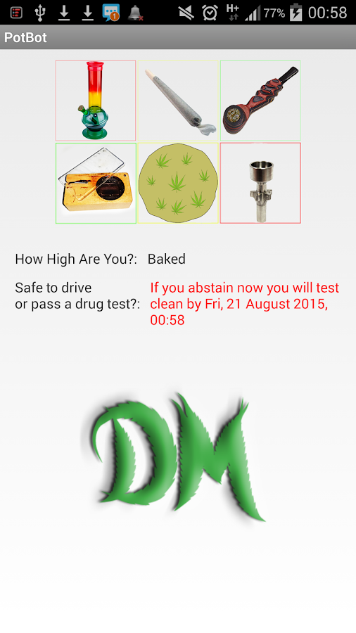 PotBot Track Your Cannabis Use- screenshot