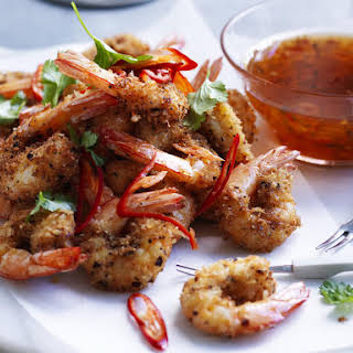 Crunchy Shrimp with Sweet Chili Syrup.