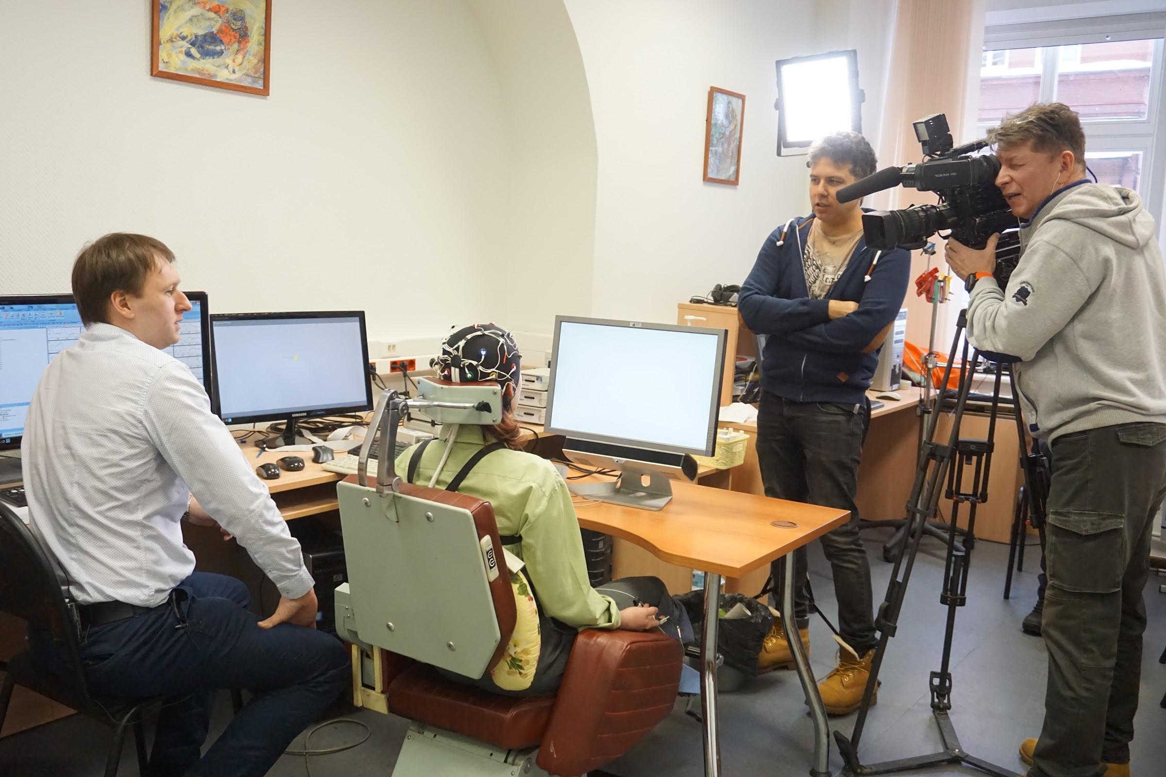 Телеканал Россия-1 на Психфаке МГУ