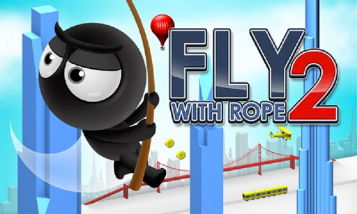 Fly With Rope - Stickman Swing In The Sky  captures d'écran 1