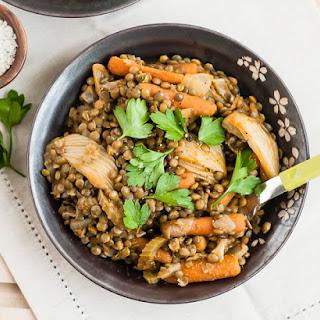 Braised Lentils and Vegetables.