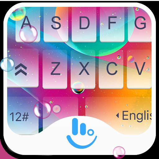 Colorful Rainbow Jelly Keyboard Theme
