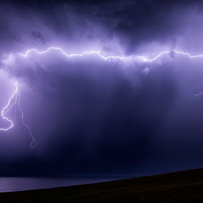 The Strike by Adam Beniston - Landscapes Weather