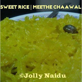 Meethe Chaawal | Sweet Rice | Rice Pudding