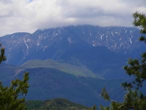 地蔵尾根と仙丈ヶ岳(雲の中…)