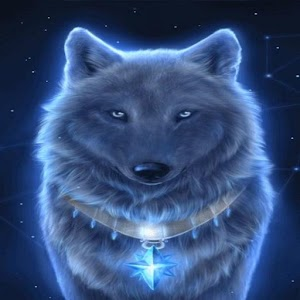 Glowing Blue Wolf Live Wallpaper