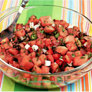 Early Fall Picnic or BBQ? Try Black Bean, Tomato, Watermelon Salad