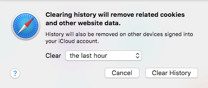 Clear browser cache in Safari