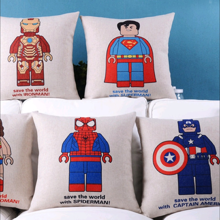 Superheroes Pillow Case Cover by Kerz Colors Inspiration Resources