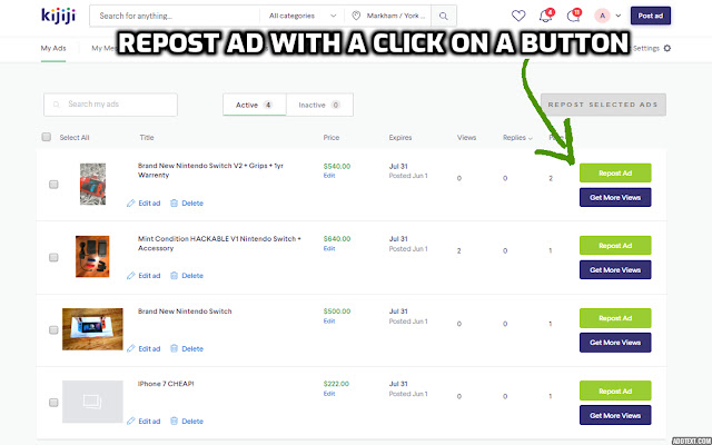 Kijiji Ad Repost Plus