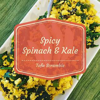 Spicy Mushroom & Spinach Tofu Scramble.