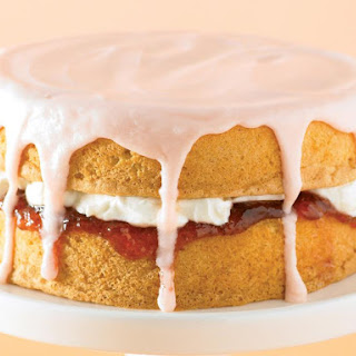 Jam and Cream Sponge Cake