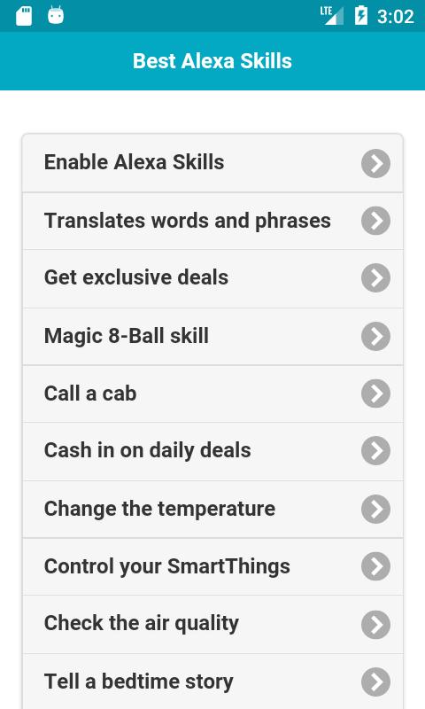 Best Amazon Alexa Skills Android 1