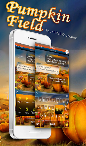 Pumpkin Field Keyboard Theme