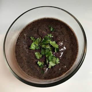 Easy Vegan Black Bean Dip.