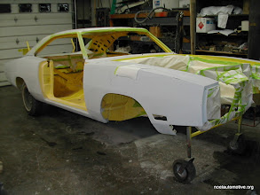 Photo: all jambed out and ready for final paint, this banna yello paint was a very solid color with no metallics which allowed us to paint the car in stages and assemble it later as were other paint jobs with pearls or metallics have to be painted asseblembled