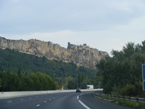 Photo: Your average drive home, with 11th century fortresses on sheer 450 foot cliffs, just like in the US …