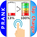 Tap Mobile Screen New Battery Fast Charger Prank icon
