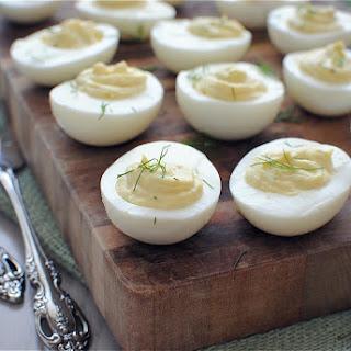 Horseradish Deviled Eggs for Jenny's Baby Shower!