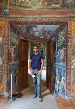"""Photo: Daniele in the """"Sala della Caccia"""" or The Hunting Room in Villa d'Este in Tivoli, Lazio, Italy"""