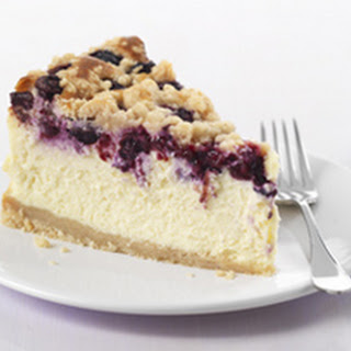 Philadelphia Blueberry Streusel Cheesecake.