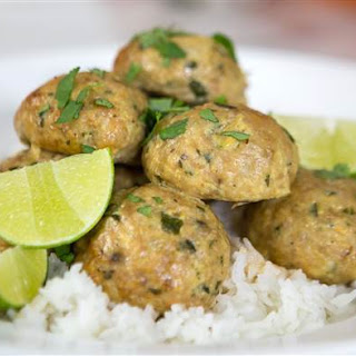 Red Curry Chicken Meatballs.