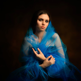 Blue by Fira Alexandra - People Portraits of Women