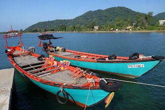 Photo: We climb in these boats for a trip to Rabbit Island