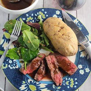 Roasted Garlic Sirloin Steak with Rosemary.